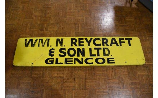 WM. N. Reycraft & Son Tin Single Sided Sign