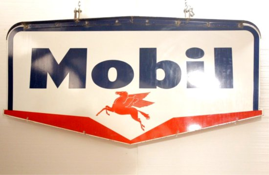 Mobil Double Sided Porcelain Sign