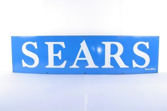 Sears Single Sided Porcelain Sign