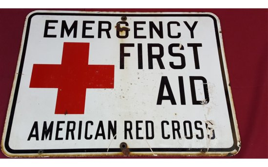 American Red Cross Emergency First Aid Sign