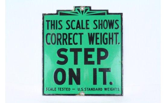 Porcelain Scale Sign