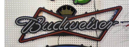 Budweiser Plastic Lighted Sign