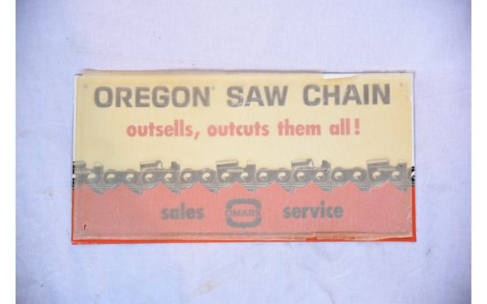 Oregon Saw Chain OUTSELLS, OUTCUTS THEM ALL Sign