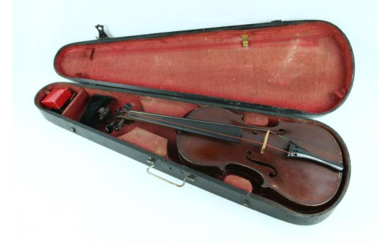 Violin in Wooden Carrying Case