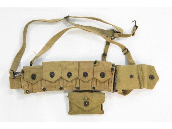 WWII US MC Cartridge Belt