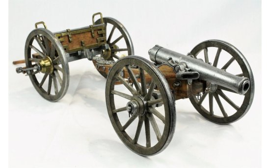 Scale Model Civil War Cannon and Limber