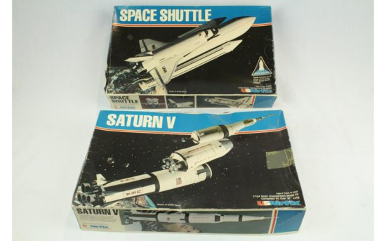 Space Shuttle and Saturn V Models