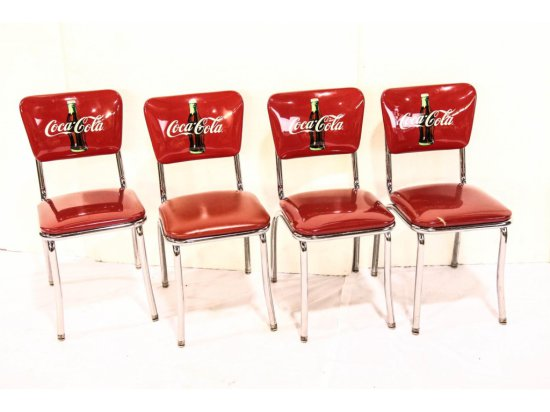 Set of Four Coca-Cola Chairs