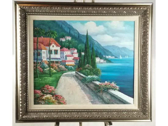 Holmes Harbor Scene Oil Painting