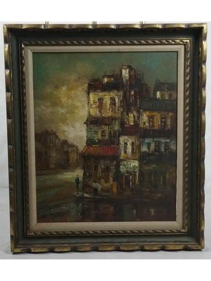 Villanova City Scene Framed Painting