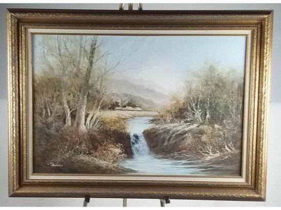 Pantos Framed Landscape Painting