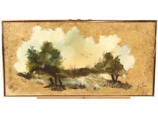 St. Clair Framed Landscape Oil Painting