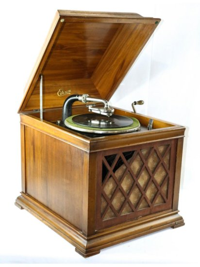 "Edison B19 ""Bungalow"" Disc Phonograph in Red Gum"