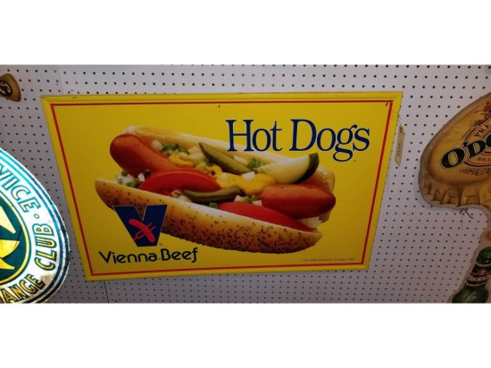 Vienna Beef Hot Dog Sign