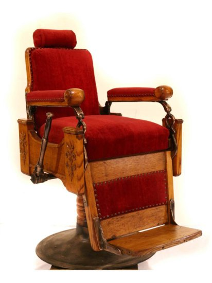 Antique Barber Shop Chair Wood