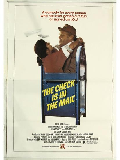 The Check is in the Mail Movie Poster One Sheet