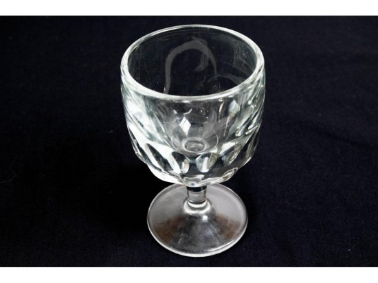 12 Large Goblets with Dish Rack