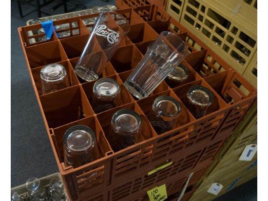 35 Misc. Pint Glasses and Dish Racks