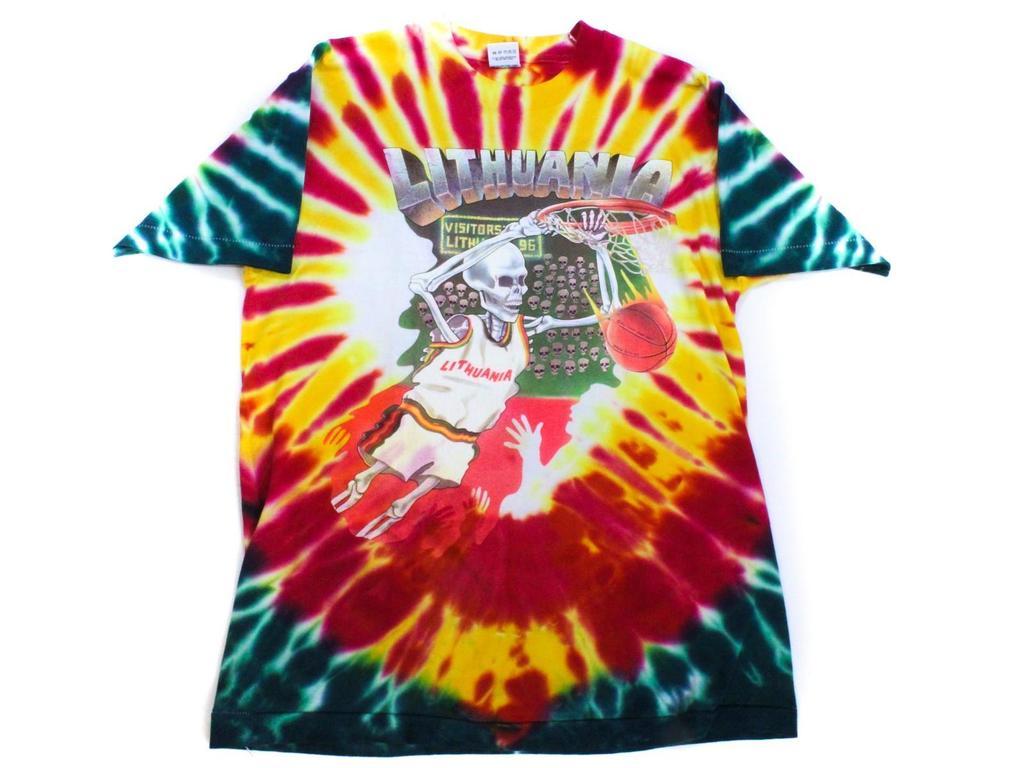 Lot Grateful Dead Lithuania Basketball Tie Die T Shirt Proxibid