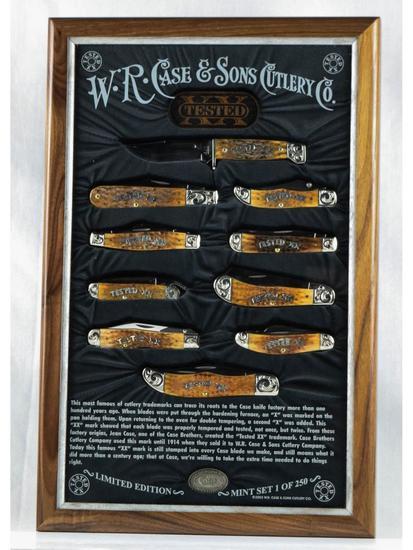 Case 2003 Mint 10 Knife Set in Display Case #143