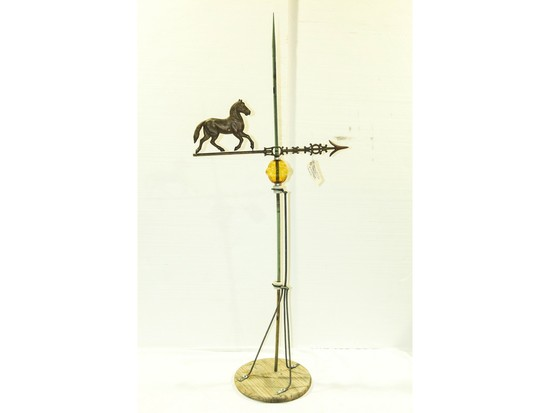 Weathervane Horse with Amber Ball