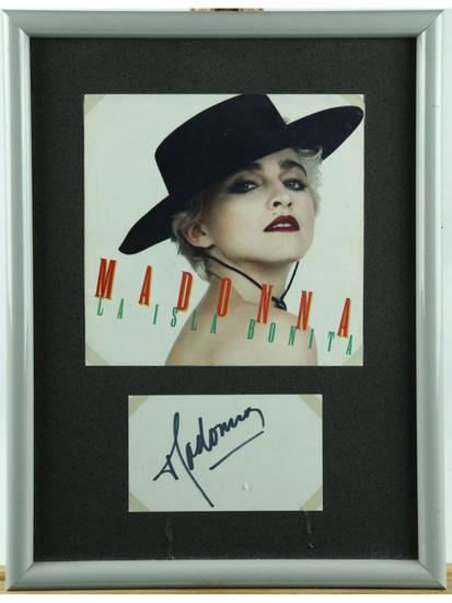 Madonna Framed Photo With Autograph