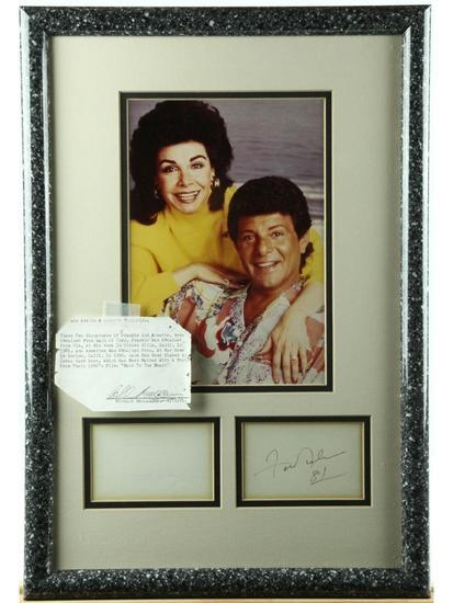 Frankie Avalon and Annette Photo w/Autographs