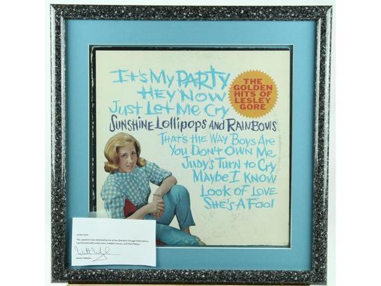 Lesley Gore Framed Signed Record Album