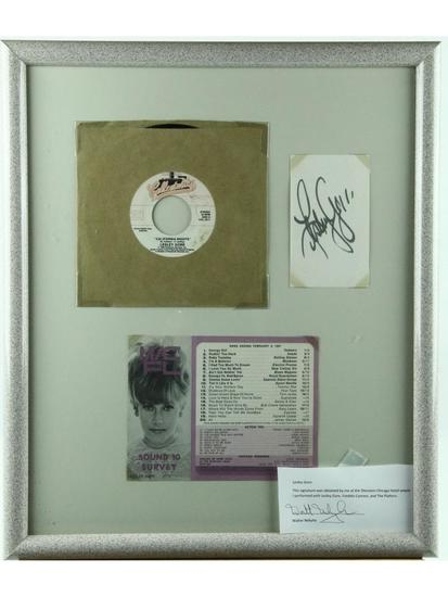Lesley Gore Framed 45rpm Record With Autograph