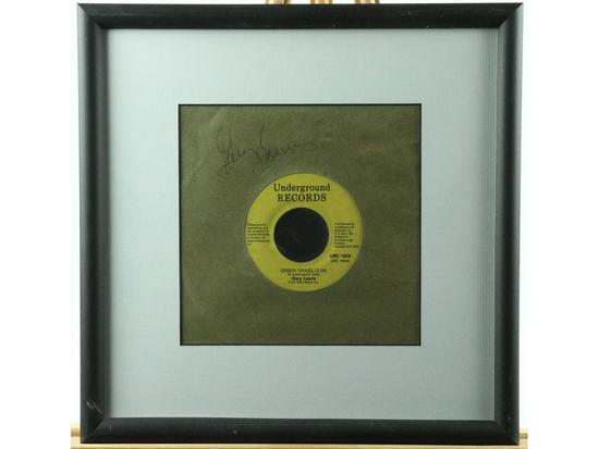 Gary Lewis Framed Signed 45rpm Record