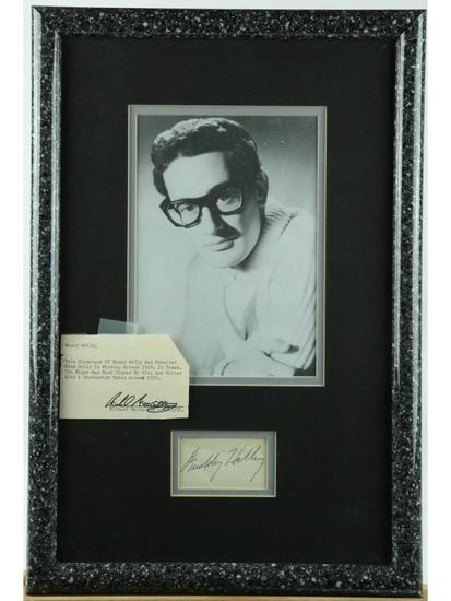 Buddy Holly Framed Photo With Autograph