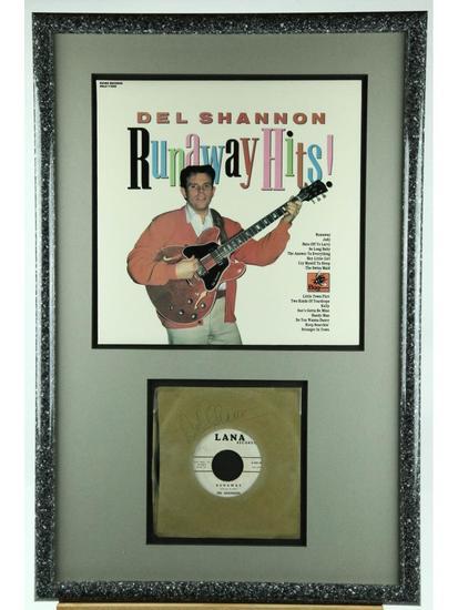 "Del Shannon ""Runaway"" Framed Signed Record Album"