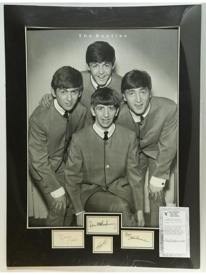 Beatles Signed Matted Photo
