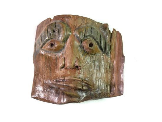 Wood Carving Iroquois Indian Mask