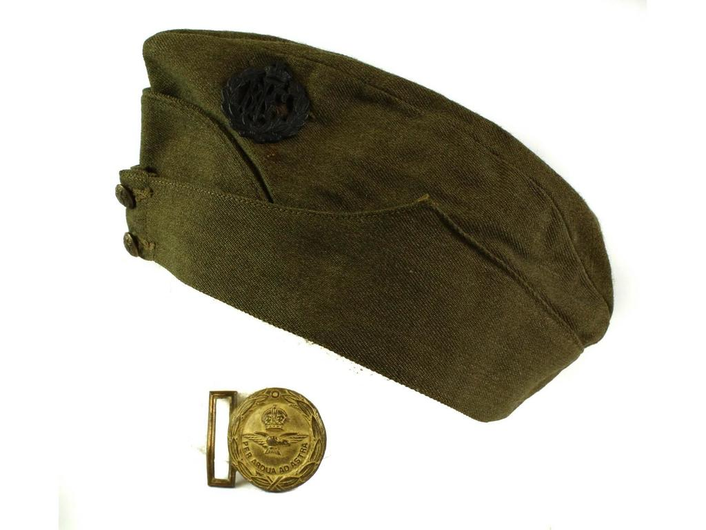 Lot: WWII British Overseas Cap and Buckle | Proxibid Auctions