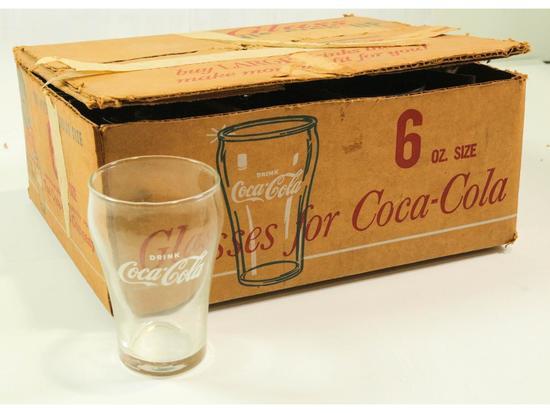 Case of Original Coke Glasses