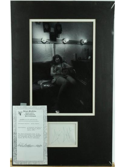 Janis Joplin Matted Photo With Signature