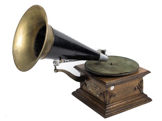 "Talk-O-Phone ""Ennis"" Front Mount Horn Phonograph"