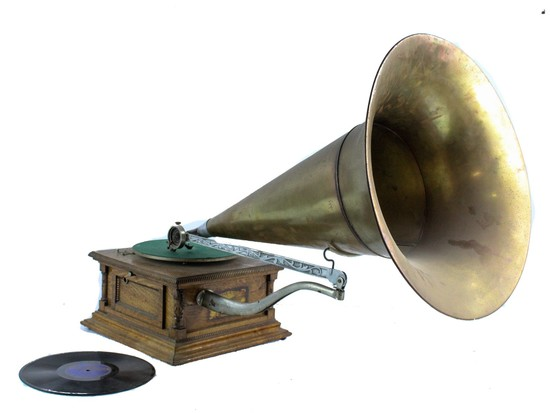 "Talk-O-Phone ""Clark"" Front Mount Horn Phonograph"