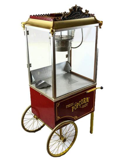 Cretors Popcorn Machine and Cart