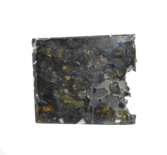 Seymchan Pallasite Meteorite Slice 129 grams