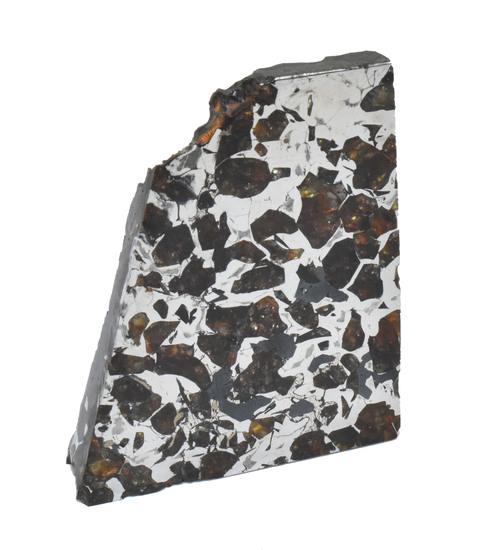 Seymchan Pallasite Meteorite Slice 86 grams