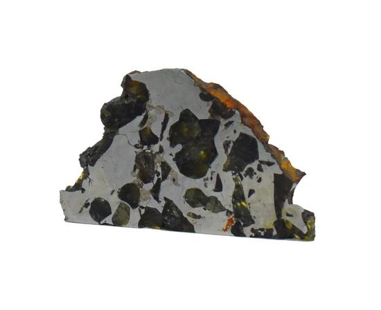 Seymchan Pallasite Meteorite Slice 22 grams