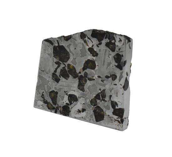 Seymchan Pallasite Meteorite Slice 73 grams