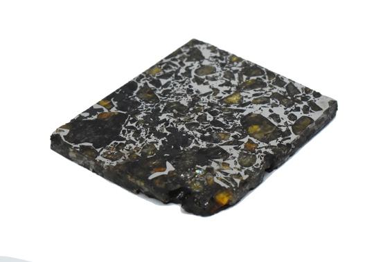 Seymchan Pallasite Meteorite Slice 37 grams