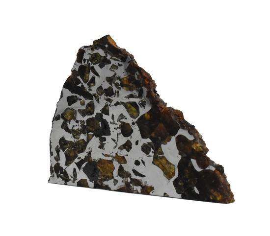 Seymchan Pallasite Meteorite Slice 43 grams
