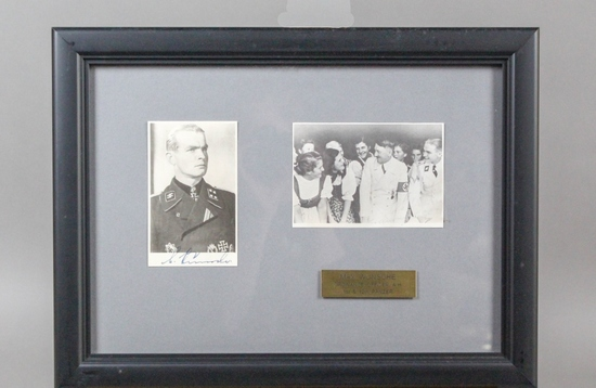 WWII Nazi SS Max Wunsche Autographed Photo