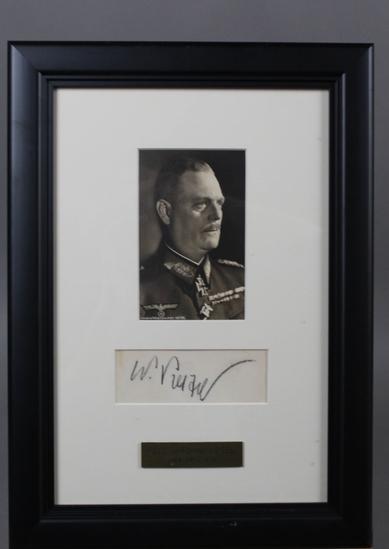 WWII Nazi Wilhelm Keitel Autographed Photo
