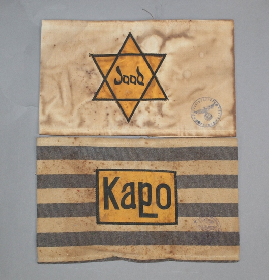 WWII Nazi Jude Star and Kapo Armbands