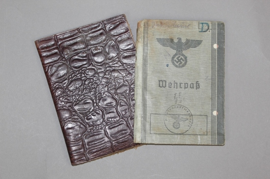 WWII Nazi Wehrpass Draft Document